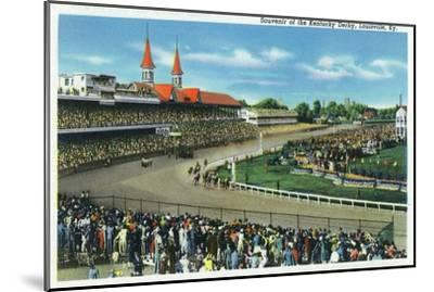 Louisville, Kentucky - General View of Crowds at the Kentucky Derby, c.1939-Lantern Press-Mounted Art Print