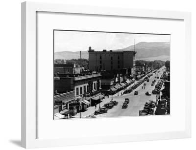 Grand Junction, Colorado - Street Scene-Lantern Press-Framed Art Print