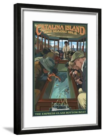 Catalina Island, California - Empress Glass Bottom Boat-Lantern Press-Framed Art Print