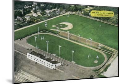 Elyria, Ohio - Aerial View of William A. Ely Stadium-Lantern Press-Mounted Art Print