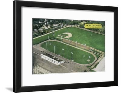 Elyria, Ohio - Aerial View of William A. Ely Stadium-Lantern Press-Framed Art Print