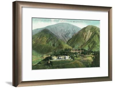 California - View of Arrowhead Hot Springs Grounds Near San Bernardino-Lantern Press-Framed Art Print