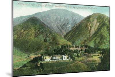 California - View of Arrowhead Hot Springs Grounds Near San Bernardino-Lantern Press-Mounted Art Print