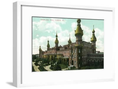 Tampa, Florida - Tampa Bay Hotel View-Lantern Press-Framed Art Print