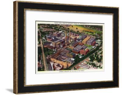 Rochester, New York - Aerial View of Kodak Park-Lantern Press-Framed Art Print