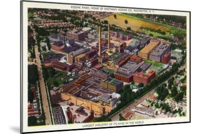 Rochester, New York - Aerial View of Kodak Park-Lantern Press-Mounted Art Print