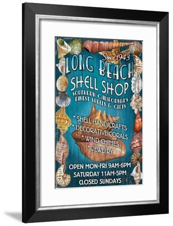 Long Beach, California - Shell Shop-Lantern Press-Framed Art Print