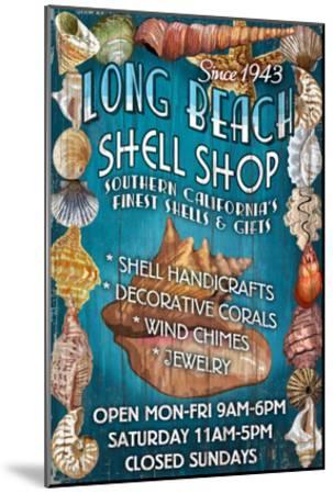 Long Beach, California - Shell Shop-Lantern Press-Mounted Art Print