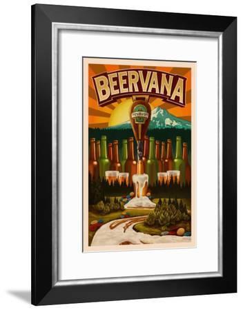 Beervana-Lantern Press-Framed Art Print