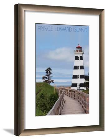 Prince Edward Island - Cedar Dunes Lighthouse-Lantern Press-Framed Art Print