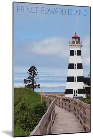 Prince Edward Island - Cedar Dunes Lighthouse-Lantern Press-Mounted Art Print