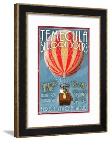 Temecula, California - Balloon Tours-Lantern Press-Framed Art Print
