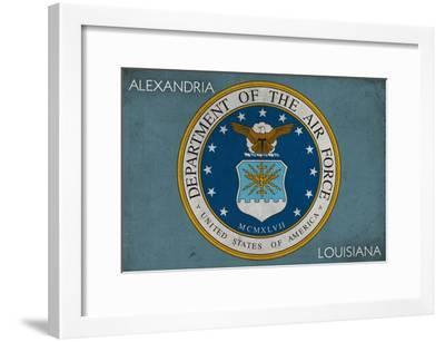 Alexandria, Louisiana - Department of the Air Force - Military - Insignia-Lantern Press-Framed Art Print