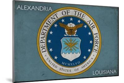 Alexandria, Louisiana - Department of the Air Force - Military - Insignia-Lantern Press-Mounted Art Print