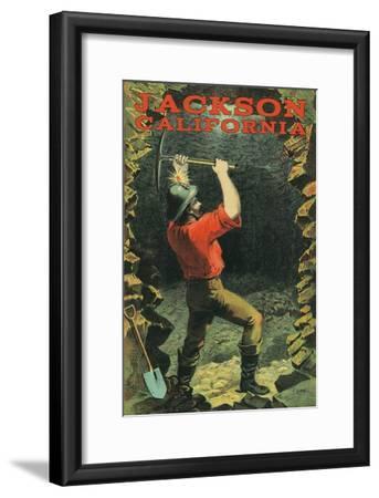 Jackson, California - Miner-Lantern Press-Framed Art Print