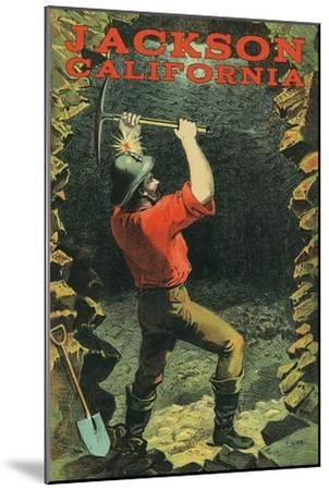 Jackson, California - Miner-Lantern Press-Mounted Art Print