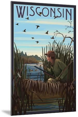 Wisconsin - Hunter and Lake-Lantern Press-Mounted Art Print