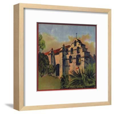 Mission Church Ruins - Citrus Crate Label-Lantern Press-Framed Art Print