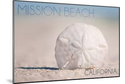 Mission Beach, California - Sand Dollar and Beach-Lantern Press-Mounted Art Print