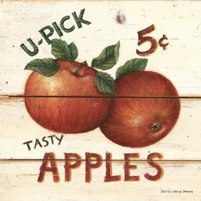 U-Pick Apples, Five Cents-David Carter Brown-Art Print