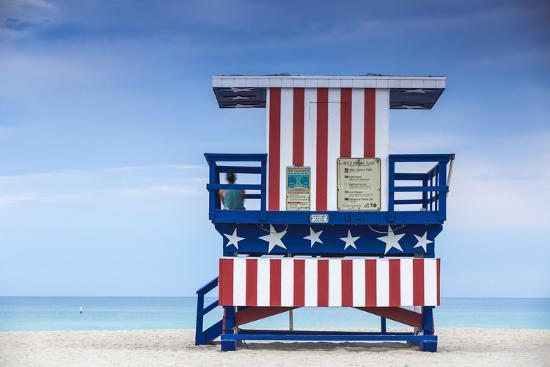 U S A Miami Beach South Life Guard Hut Photographic Print By Jane Sweeney Art