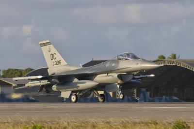 U.S. Air Force F-16 Fighting Falcon at Natal Air Force Base, Brazil-Stocktrek Images-Photographic Print