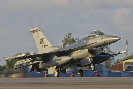 U.S. Air Force F-16 Fighting Falcon Taking Off-Stocktrek Images-Photographic Print