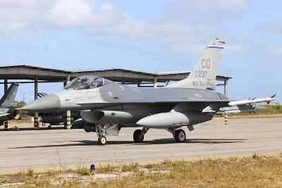 U.S. Air Force F-16C Taxiing at Natal Air Force Base, Brazil-Stocktrek Images-Photographic Print