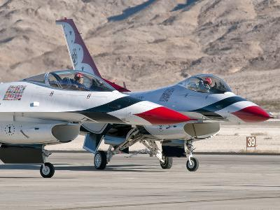 U.S. Air Force Thunderbirds on the Ramp at Nellis Air Force Base, Nevada-Stocktrek Images-Photographic Print