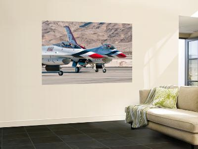 U.S. Air Force Thunderbirds on the Ramp at Nellis Air Force Base, Nevada-Stocktrek Images-Wall Mural