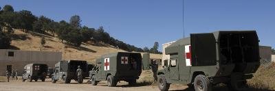 U.S. Army Ambulance Units Participate in a Simulated Evacuation Scenario-Stocktrek Images-Photographic Print