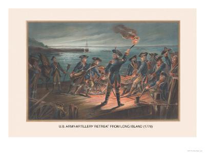 U.S. Army, Artillery Retreat from Long Island, 1776-Arthur Wagner-Art Print