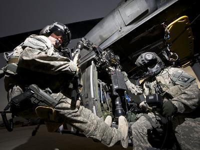 U.S. Army Crew Strapped Into the Medevac Hoist of a UH-60L Black Hawk-Stocktrek Images-Photographic Print