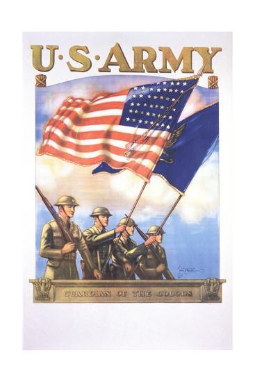 U.S. Army - Guardians of the Colors Poster-Tom Woodburn-Giclee Print