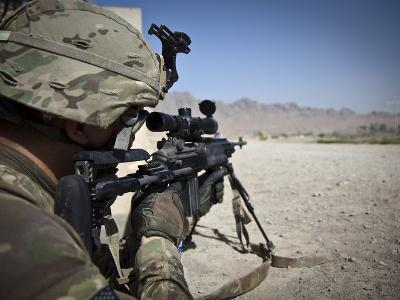 U.S. Army Sniper Pulls Security Using an Mk14 Enhanced Battle Rifle-Stocktrek Images-Photographic Print