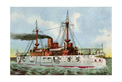 "U.S. Battleship ""Texas,"" Circa 1900--Photographic Print"