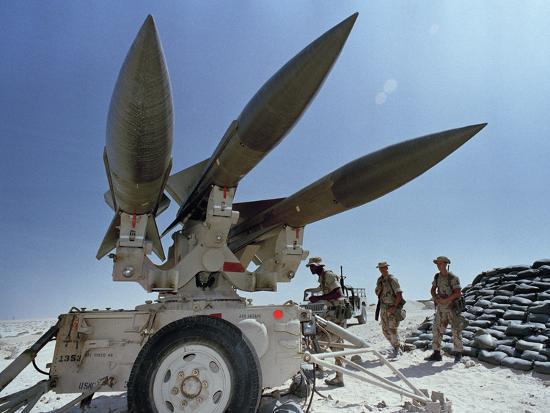 U.S. Hawk Anti-Air Craft Missiles- Endicher-Photographic Print