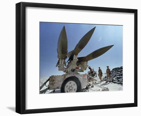 U.S. Hawk Anti-Air Craft Missiles-Endicher-Framed Photographic Print