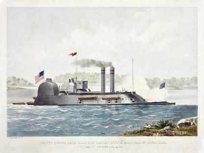 U.S. Ironclad Ram Lafayette-John Henry-Giclee Print