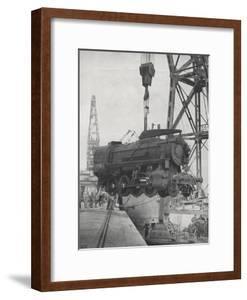 U.S. Locomotives Being Unloaded at Tunis, 1943
