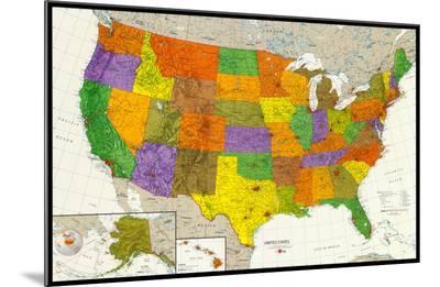 U.S. Map--Mounted Print