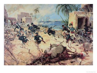 U.S. Marines Capture the Barbary Pirate Fortress at Derna, Tripoli, 27th April 1805-C^h^ Waterhouse-Giclee Print