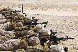 U.S. Marines Conduct a Battlesight Zero their Rifles in Al Galail, Qatar