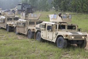 U.S. Marines Make their Way to Fort Stewart in Hinesville, Georgia