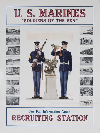 U.S. Marines Recruiting Poster--Giclee Print