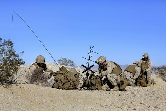 U.S. Marines Setup Communication Equipment and Conduct Radio Checks--Photographic Print