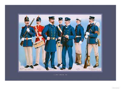 U.S. Navy: Uniforms, 1899-Werner-Art Print
