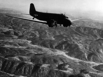 U.S. Plane Flying over the Himalayas--Photographic Print