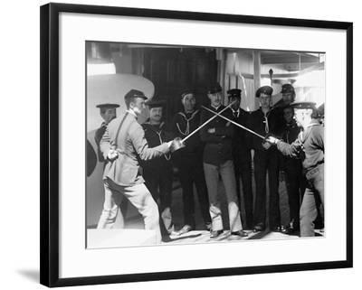 U.S.S. Newark, Sword Exercise--Framed Photo