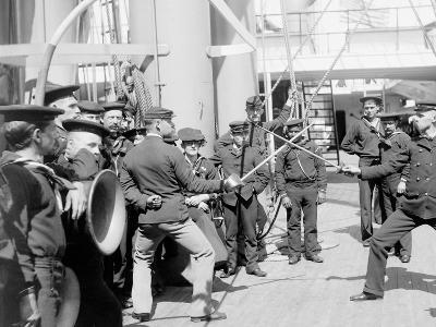 U.S.S. Newark, Sword Exercise--Photo